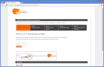 Webinterface Egardia Alamanlage im Testengardia_titel