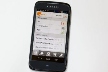Smartphone Egardia Alamanlage im Testengardia_titel