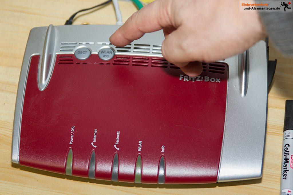 WPS taste am Router drücken
