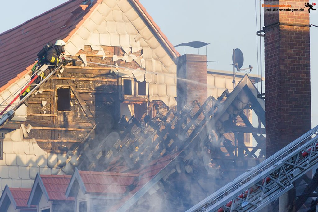 Brand eines Wohnhauses