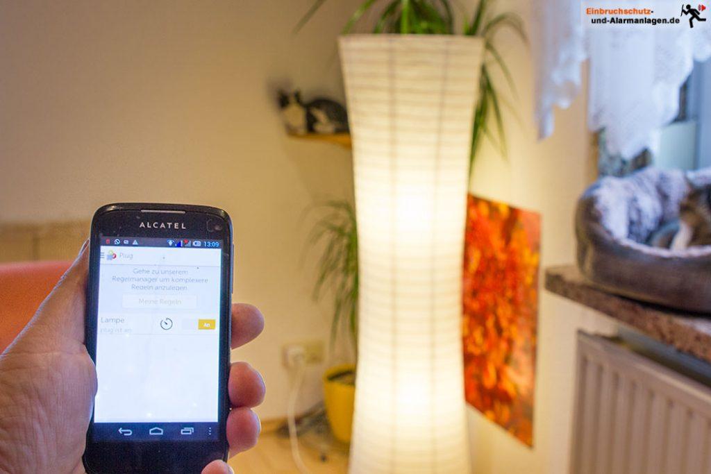 Gigaset-elements-Test-Lampe-schalten