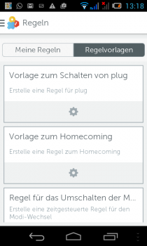 gigaset-Smartphon-App-regelvorlagen