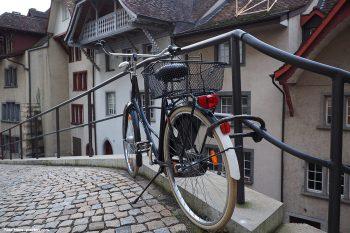 Das Fahrrad sollte immer angekettet werden