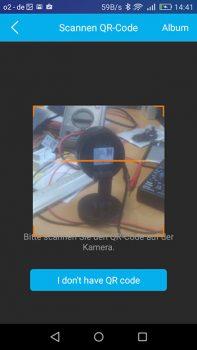 foscam-c1-app-qr-code-scannen
