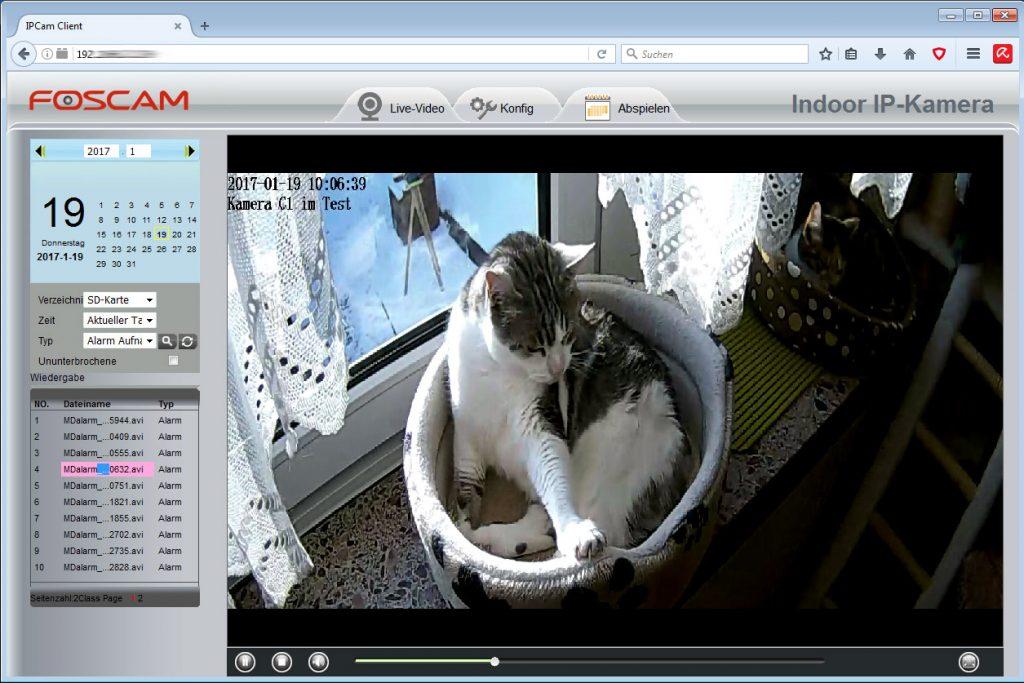 foscam-c1-webinterface-3-aufnahmen-abspielen