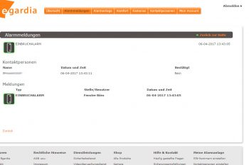 Egardia-GATE-03-Test-Webinterface-Alarmmeldung