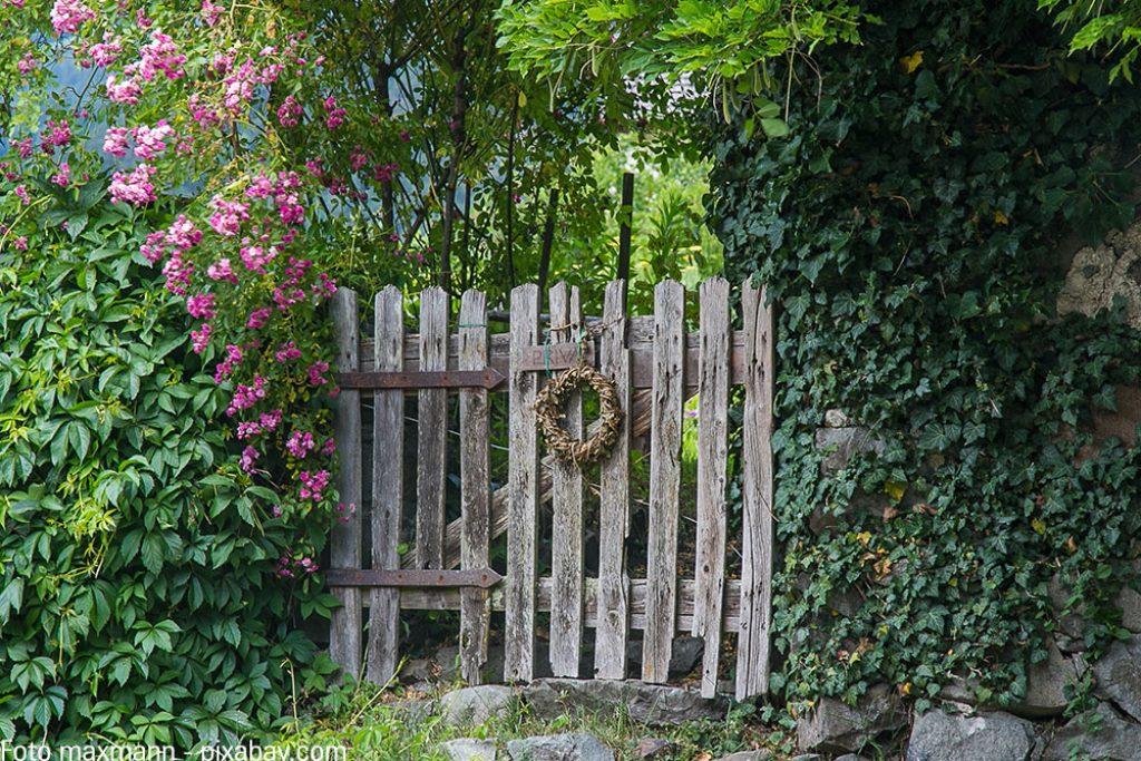 Bei hohen Zäunen und Hecken wäre auch ein stabiles Gartentor ratsam