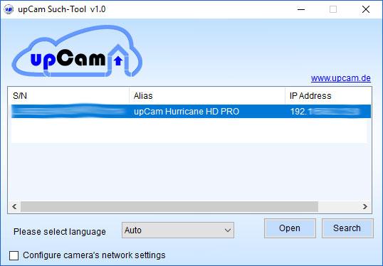 upCam-Hurricane-HD-Pro-Test-ip-finder