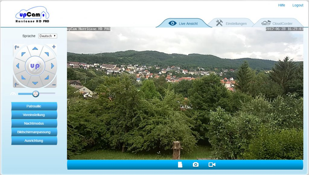 webinterface1-upCam-Hurricane-HD-Pro-Test-lifeansicht