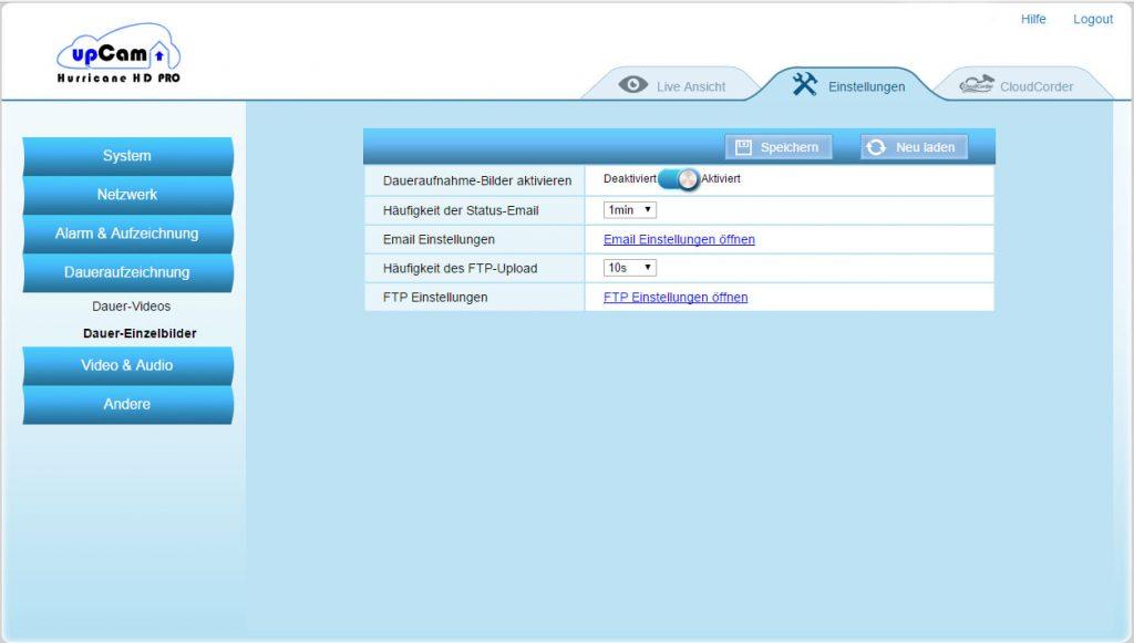 webinterface8-upCam-Hurricane-HD-Pro-Test-dauereinzelbilder-einstellung