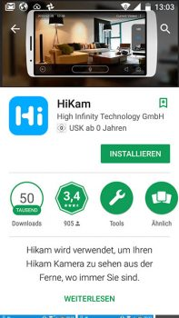 App-HiKam-A7-Test-Ueberwachungskamera-Playstore