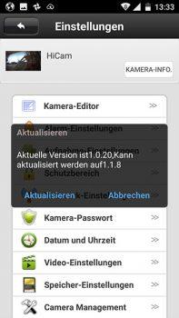 App-HiKam-A7-Test-Ueberwachungskamera-Update
