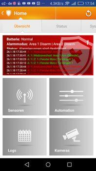 App-Lupus-Lupusec-XT1-Plus-Alarmanlage-Test-Uebersicht