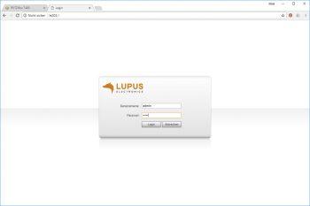 Lupusnet-LE203-Test-Ueberwachungskamera-Login