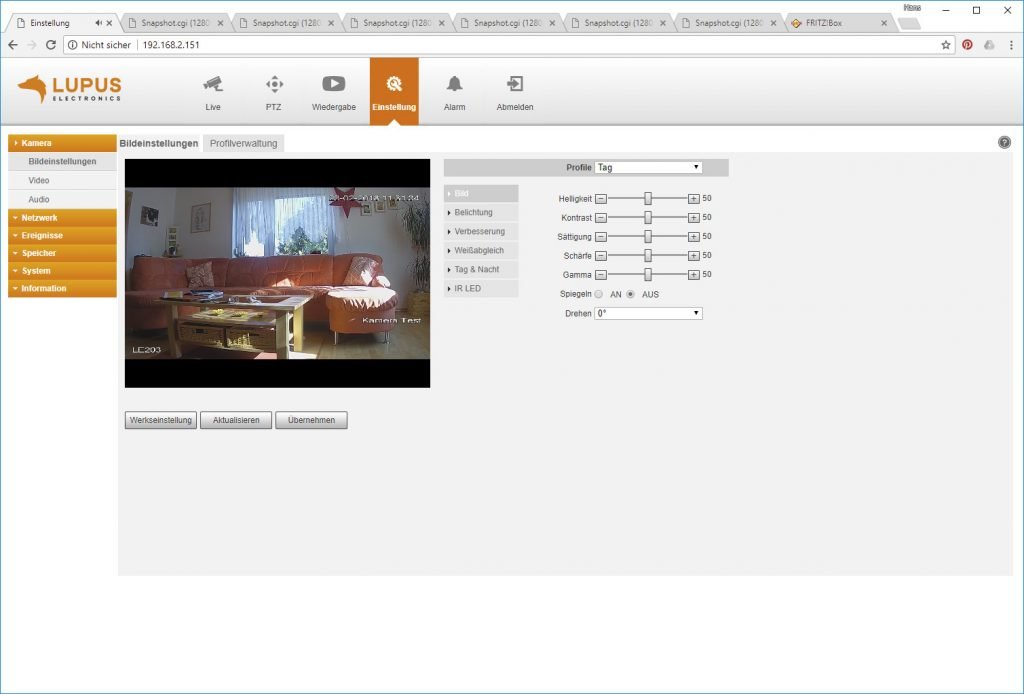 Webinterface-Lupusnet-LE203-Test-Ueberwachungskamera-Bildeinstellungen1