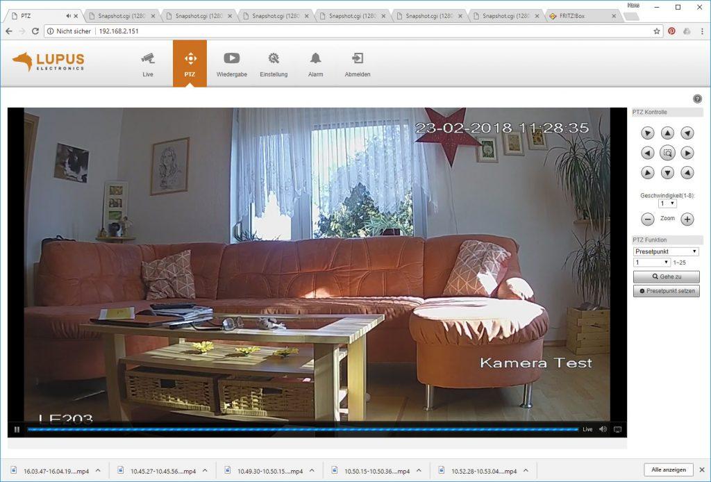 Webinterface-Lupusnet-LE203-Test-Ueberwachungskamera-PTZ