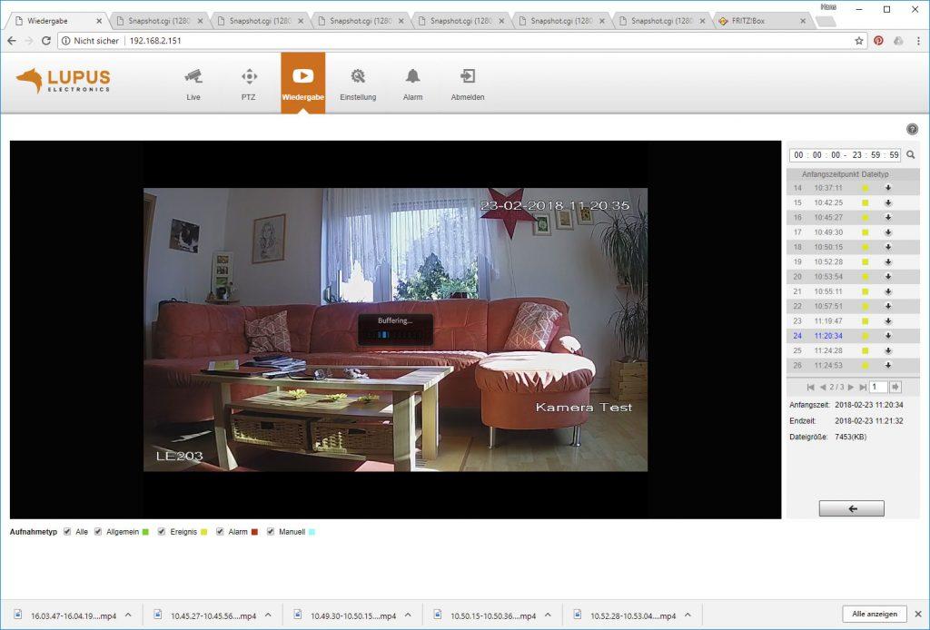 Webinterface-Lupusnet-LE203-Test-Ueberwachungskamera-Video-Wiedergabe2