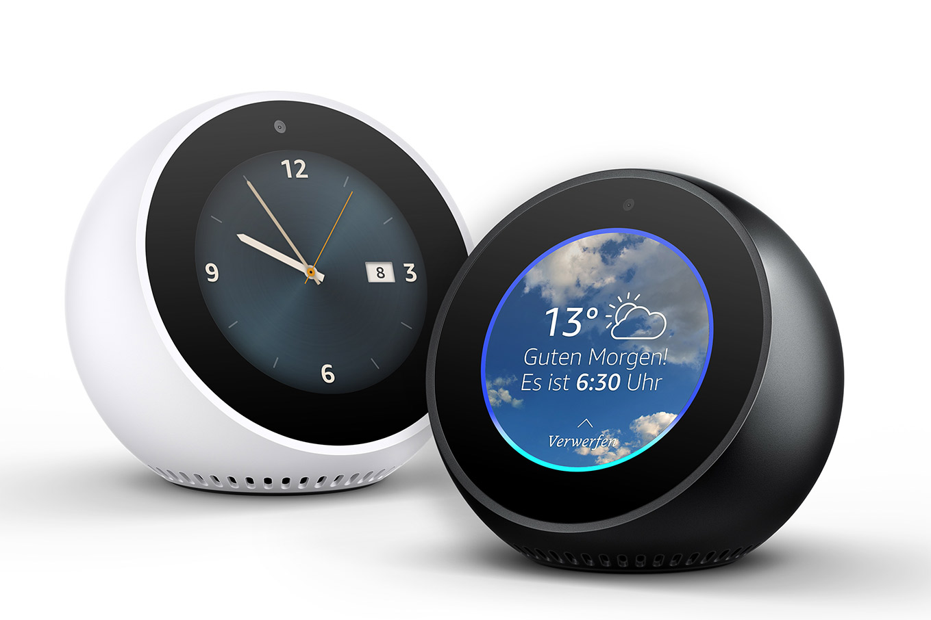 Echo Spot - Amazon Sprachsteuerung im Wecker Design mit Display
