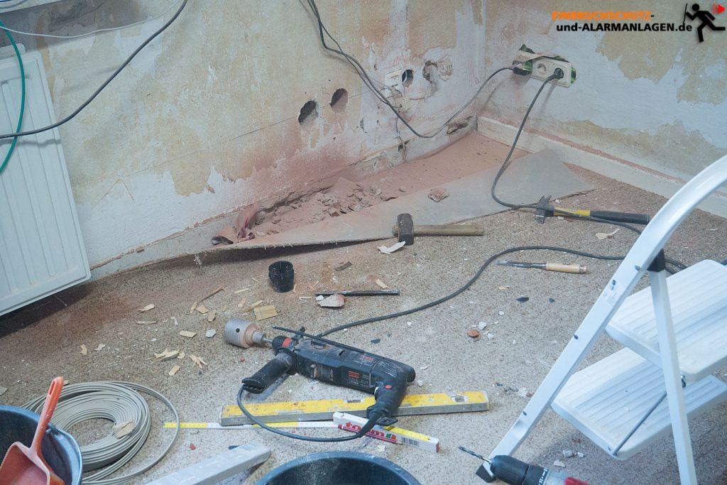 Staub bei einer Renovierung löst oft den Rauchmelder aus