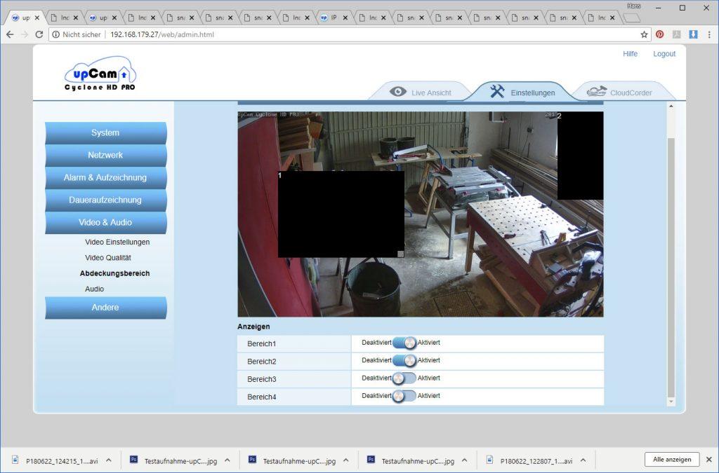 upCam-Cyclone-HD-PRO-Test-Einstellungen-Abdeckung