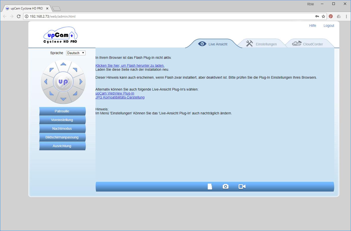überwachungskamera software test
