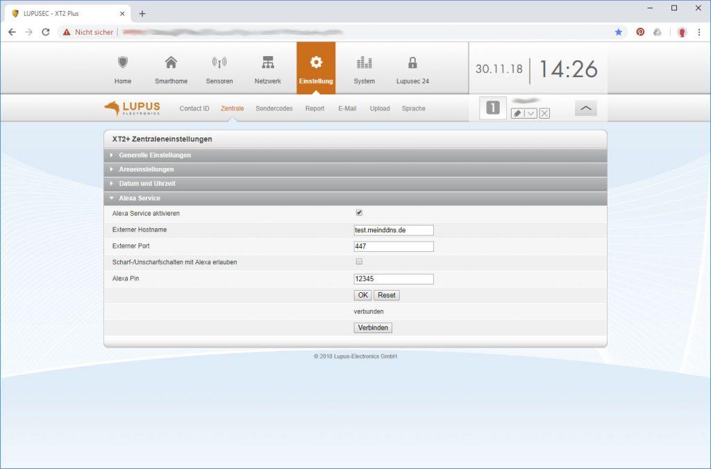 Lupusec-Alarmanlage-xt2-Plus-Alexa-verbinden
