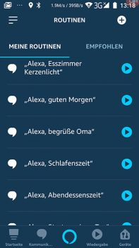 Alexa-App-Screenshot-Routinen