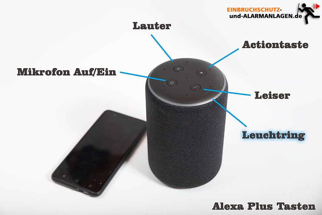 Alexa-Smarthome-Echo-Test-Echo-Plus-Tasten-Erklaerung