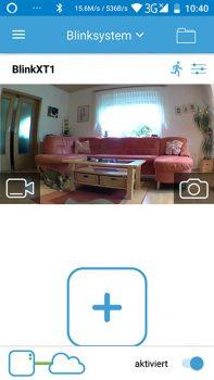 Blink-XT-App-Hauptscreen