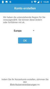 Einrichtung der App