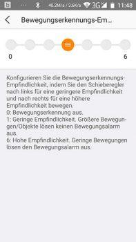 App-EZVIZ-Ueberwachungskamera-CTQ3W-Bewegungserkennungsempfindlichkeit