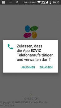 App-EZVIZ-Ueberwachungskamera-CTQ3W-Inbetriebnahme-2-Rechte-Anrufe