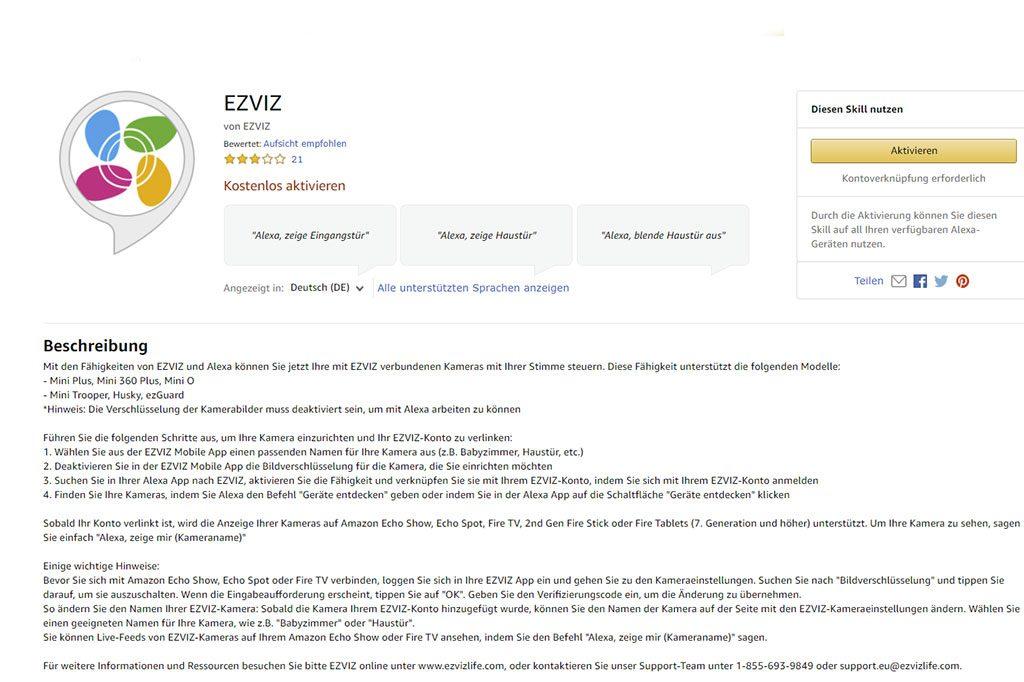 Skill-EZVIZ-Alexa-Ueberwachungskamera