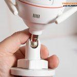 Test-EZVIZ-Ueberwachungskamera-CTQ3W-Halter-Kugelgelenk