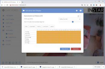 Instar-IN-8003-Full-HD-PoE-Test-Webinterface-Daueraufnahme-Zeitplan