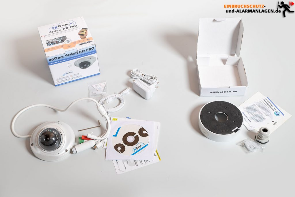 upcam-Vortex-HD-Pro-Test-Ueberwachungskamera-Lieferumfang