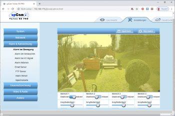 upcam-Vortex-HD-Test-Ueberwachungskamera-Bewegungsbereiche