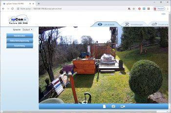 upcam-Vortex-HD-Test-Ueberwachungskamera-Hauptscreen