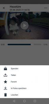 App-Arlo-Ultra-Test-Video-teilen