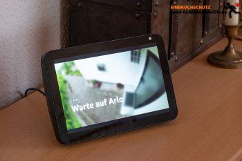 Arlo-Ultra-Test-4k-Ueberwachungskamera-Alexa-Echo-Show-2