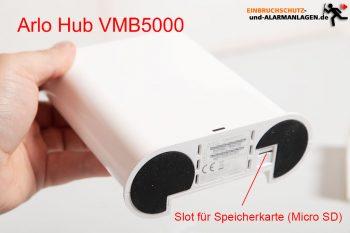 Arlo-Ultra-Test-4k-Ueberwachungskamera-Hub-vmb5000-Speicherkarte