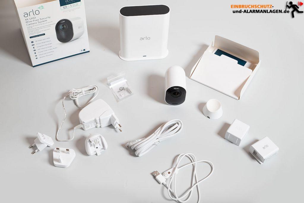 Arlo-Ultra-Test-4k-Ueberwachungskamera-Lieferumfang