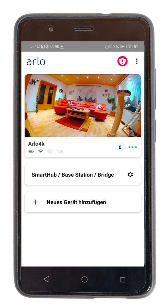 Arlo-Ultra-Test-4k-Ueberwachungskamera-Smartphone-App