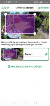 Arlo-Pro-3-App-Test-Aktivitaetszonen