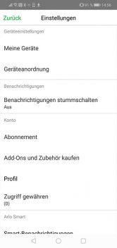 Arlo-Pro-3-App-Test-App-Einstellungen