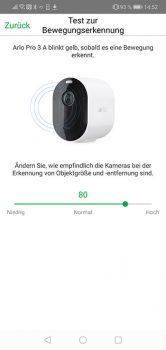 Arlo-Pro-3-App-Test-Bewegungserkennung