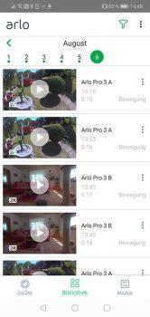 Arlo-Pro-3-App-Test-Bibliothek