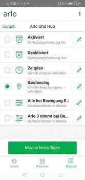 Arlo-Pro-3-App-Test-Modus