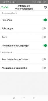 Arlo-Pro-3-App-Test-intelligente-erkennung