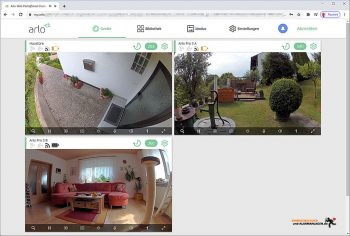 Arlo-Pro-3-Test-PC-Interface-Kamerauebersicht